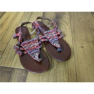 Jeffery Campbell Aztec Print Studded Sandals